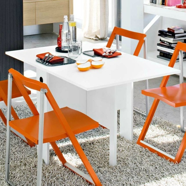 Lucca Folding Table Pertaining To White Melamine Dining Tables (View 14 of 25)