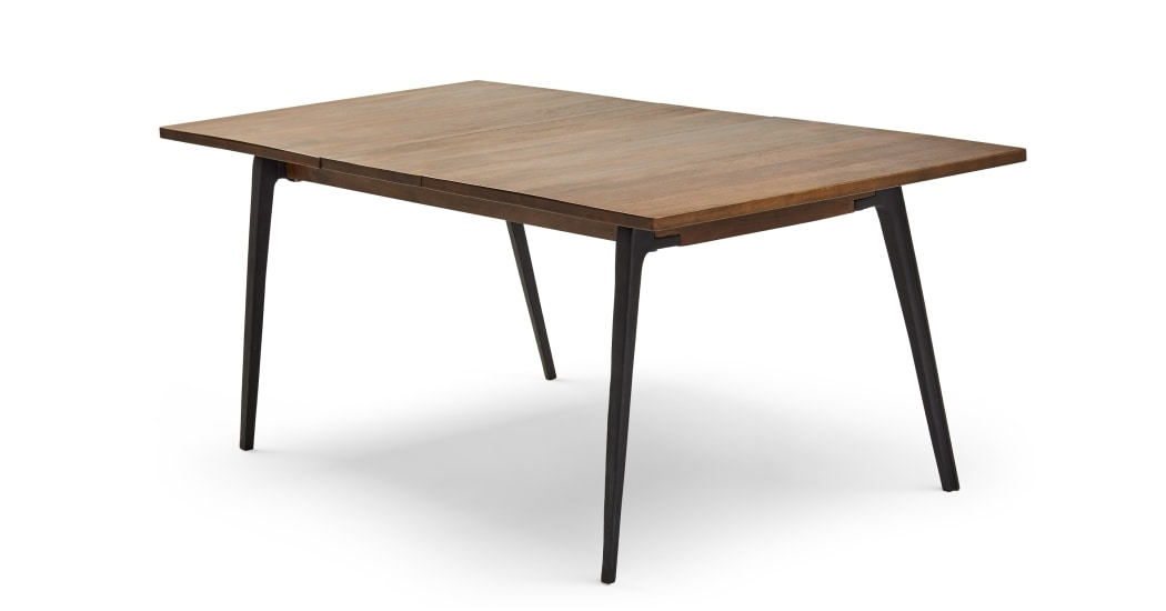 Lucien Extending Dining Table, Dark Mango Wood | Made With Dark Wood Extending Dining Tables (Image 16 of 25)