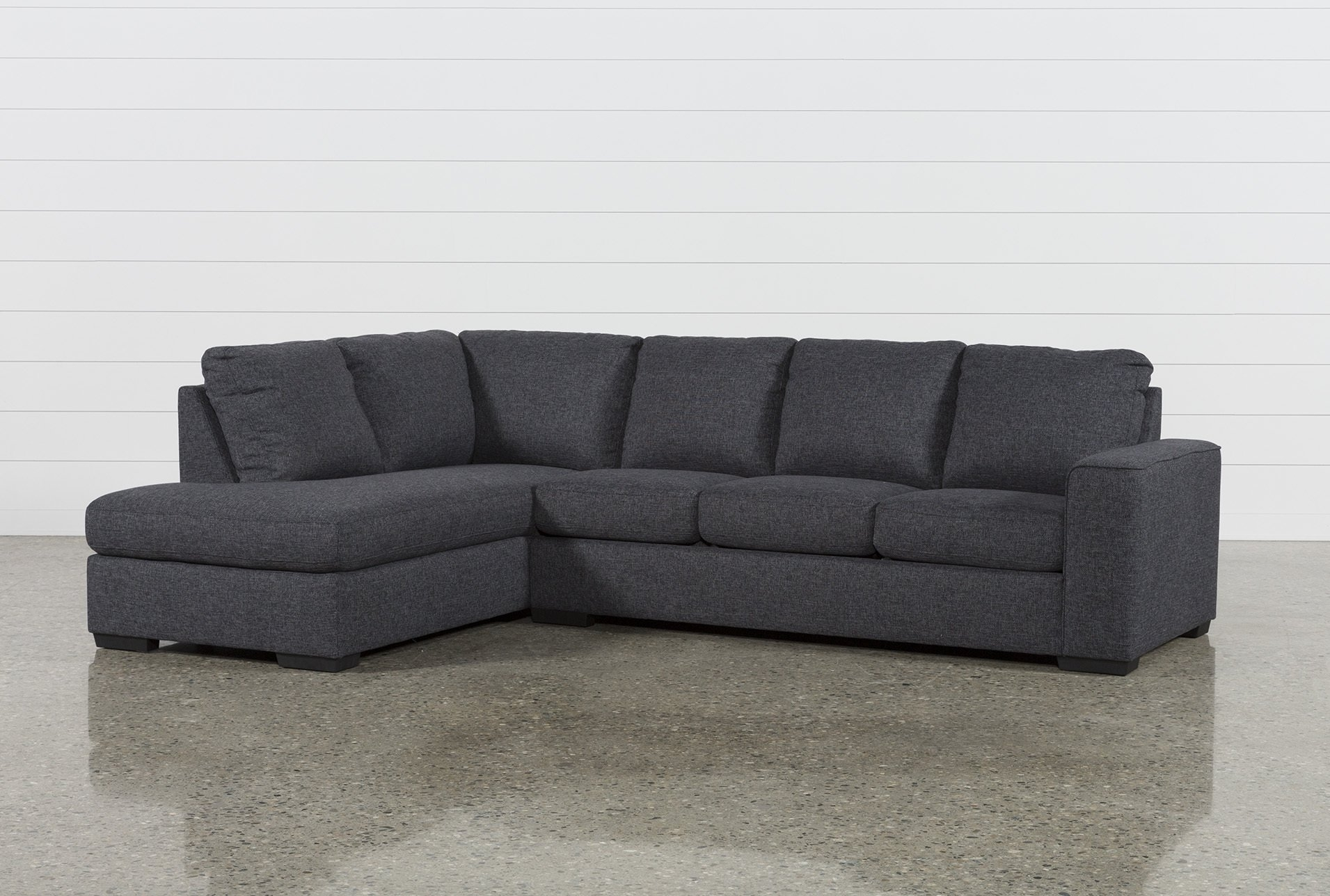 Lucy Dark Grey 2 Piece Sectional W/laf Chaise | Dark Grey And Products Regarding Aspen 2 Piece Sleeper Sectionals With Raf Chaise (Image 16 of 25)