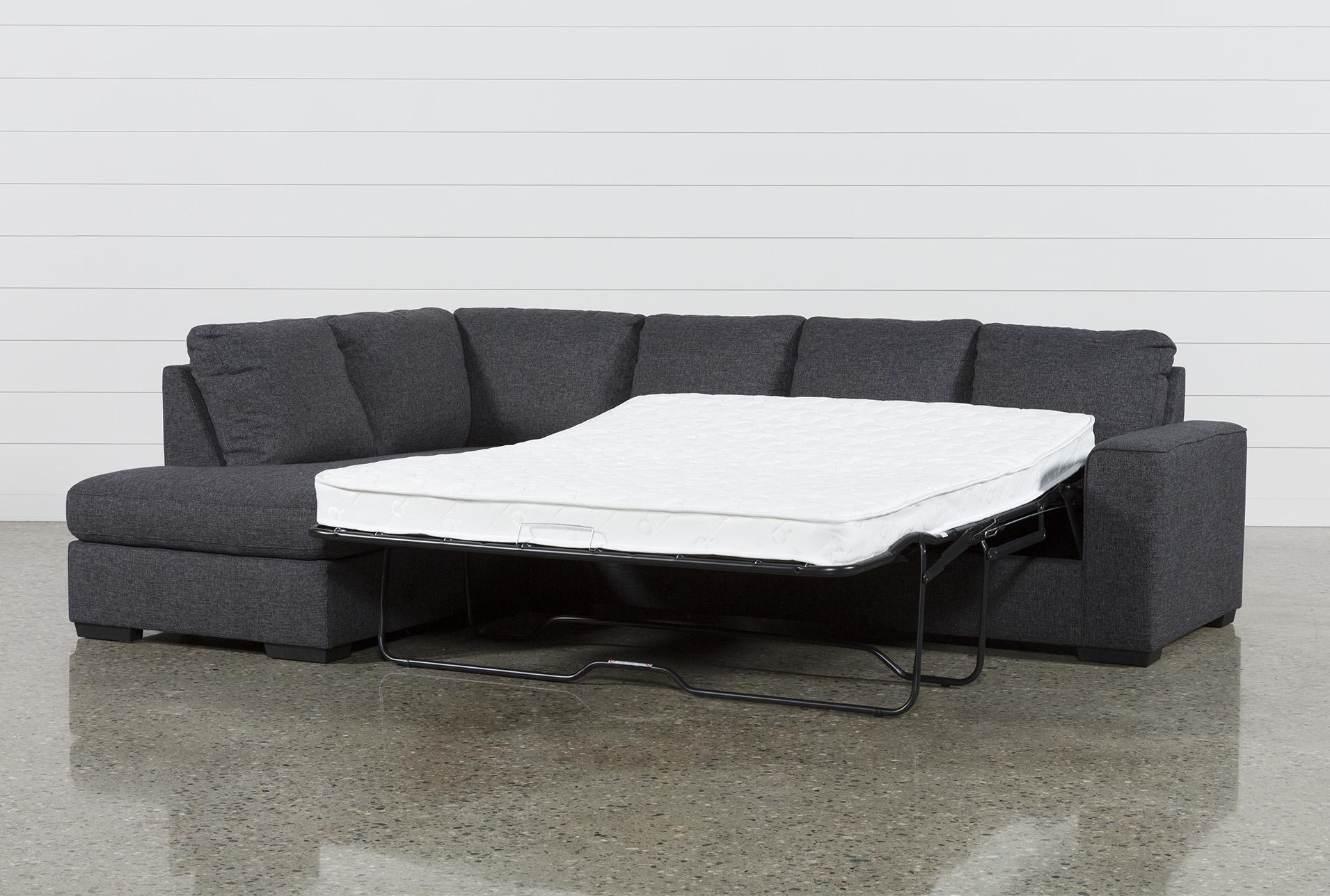 Lucy Dark Grey 2 Piece Sleeper Sectional W/laf Chaise | Products Within Lucy Dark Grey 2 Piece Sleeper Sectionals With Laf Chaise (Image 10 of 25)
