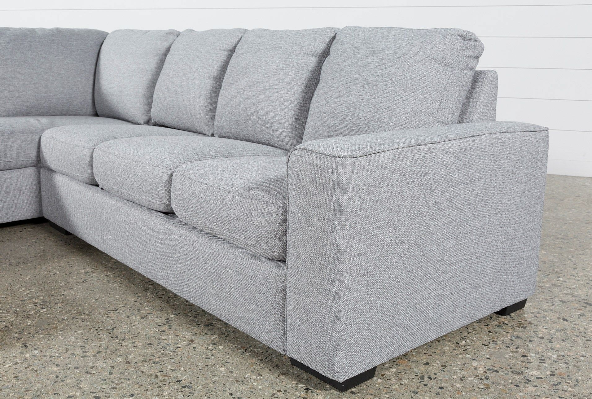 Lucy Grey 2 Piece Sectional W/laf Chaise | Gray And Room With Regard To Arrowmask 2 Piece Sectionals With Sleeper & Left Facing Chaise (Image 14 of 25)