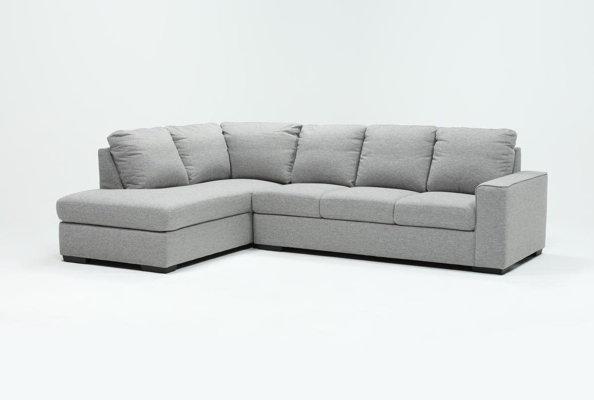 Lucy Grey 2 Piece Sleeper Sectional W/laf Chaise | Living Spaces With Lucy Dark Grey 2 Piece Sleeper Sectionals With Laf Chaise (Image 16 of 25)