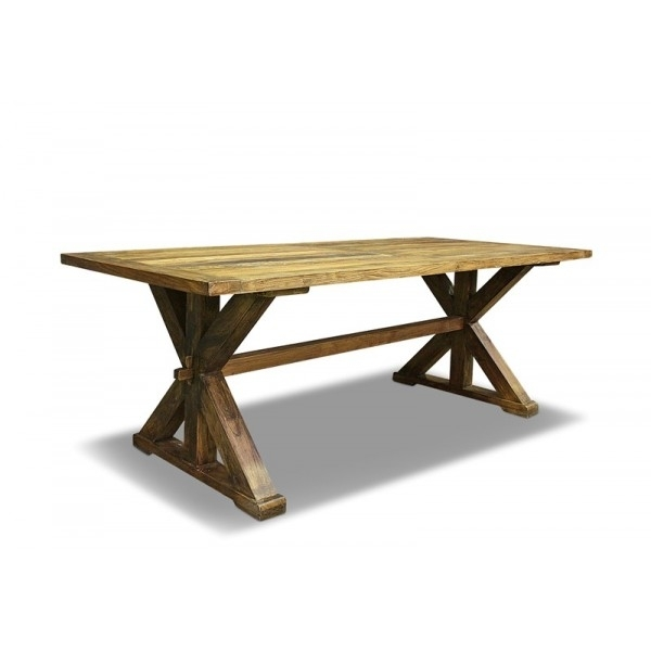 Luigi Dining Table 180Cm Recycled Elm Pertaining To 180Cm Dining Tables (Image 14 of 25)