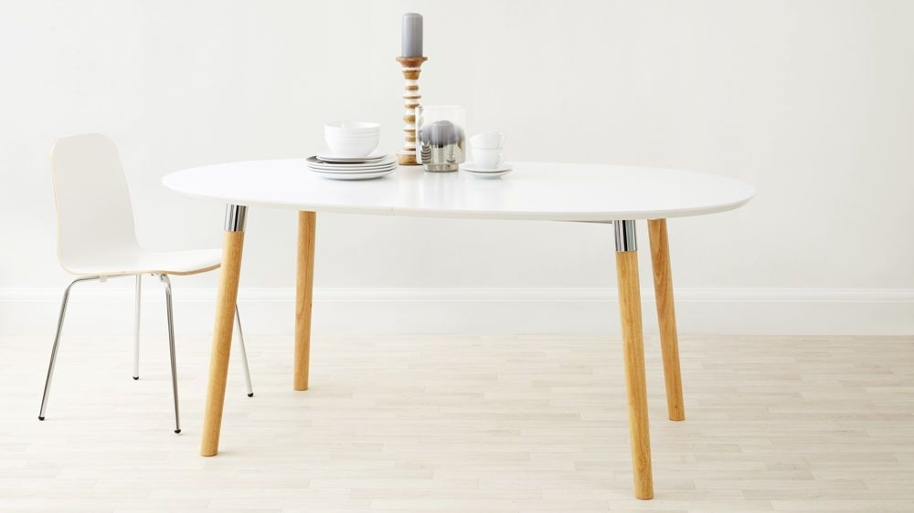 Luka Matt White Extending Dining Table | Dining, Dining Furniture Throughout White Extending Dining Tables (View 12 of 25)
