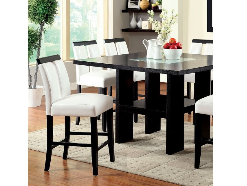 Luminar Ii Espresso Wood Embedded Led Lights Dining Set – Shop For Intended For Dining Tables With Led Lights (Image 21 of 25)