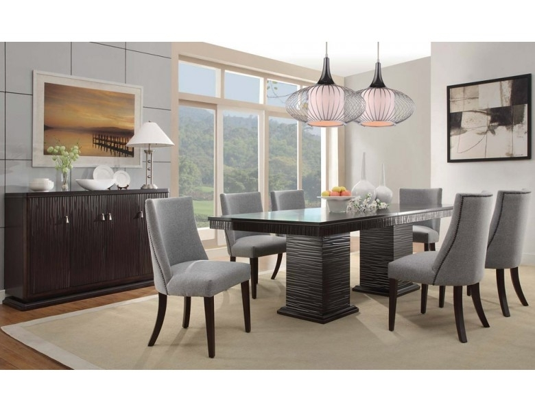 Lusaka Contemporary Dining Room Table In Contemporary Dining Room Tables And Chairs (View 9 of 25)