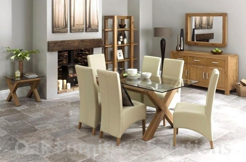 Lush Oak Glass Dining Tables Ideas Ivory Dining Table And Chairs On For Oak And Glass Dining Tables And Chairs (Image 13 of 25)