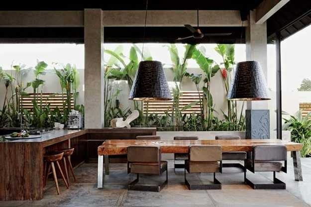 Luxurious Architectural Interiors And Outdoor Living Spaces In Intended For Balinese Dining Tables (View 24 of 25)