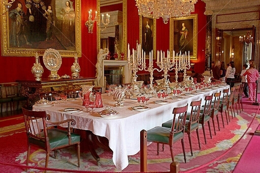 Luxurious Dining Room At Chatsworth House, England | Public With Chatsworth Dining Tables (Image 19 of 25)