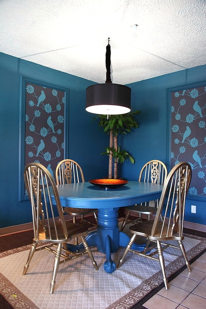 Luxury Blue Dining Room Table | Dining Room Table Plans Pertaining To Blue Dining Tables (Image 16 of 25)