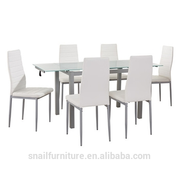 Luxury Dining Table Set Extendable Glass Dining Table And 6 Chairs For Glass Extendable Dining Tables And 6 Chairs (View 23 of 25)