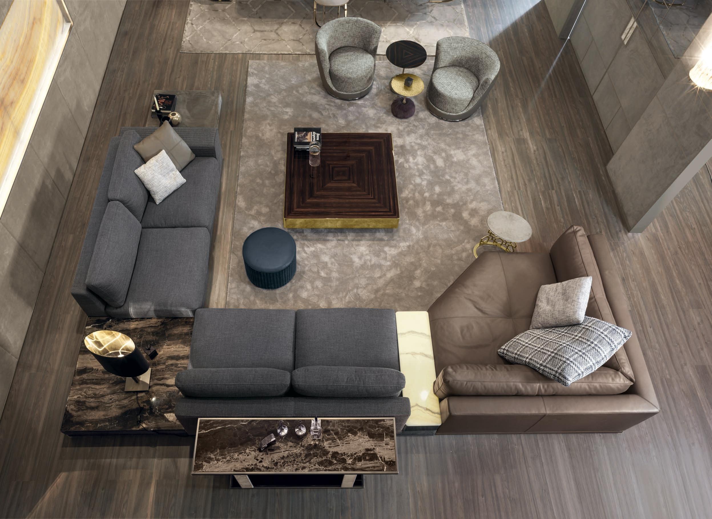 Luxury Italian Designer Cohen Sectional – Italian Designer & Luxury For Cohen Down 2 Piece Sectionals (View 15 of 25)