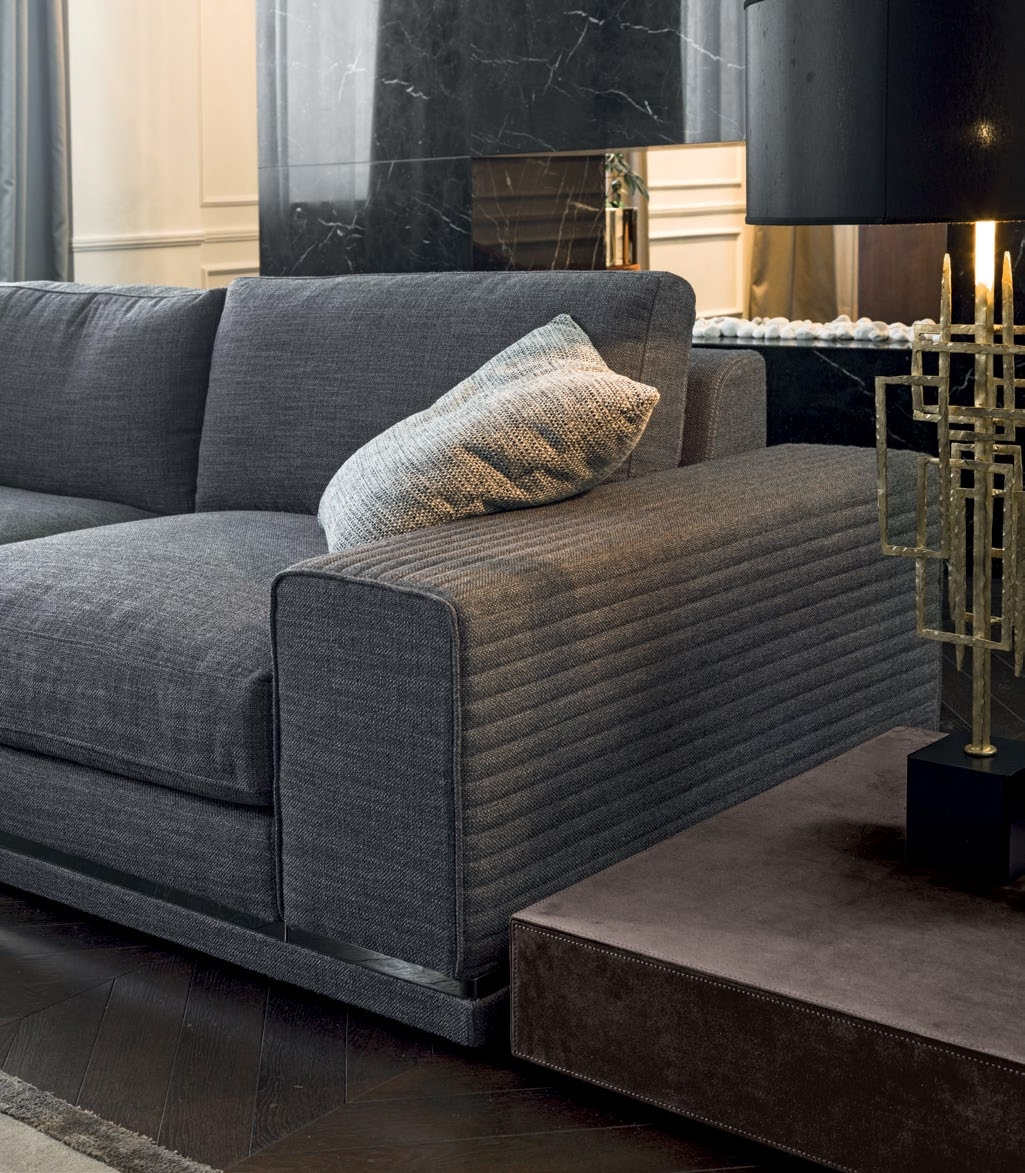 Luxury Italian Designer Cohen Sectional – Italian Designer & Luxury Pertaining To Cohen Down 2 Piece Sectionals (Image 17 of 25)