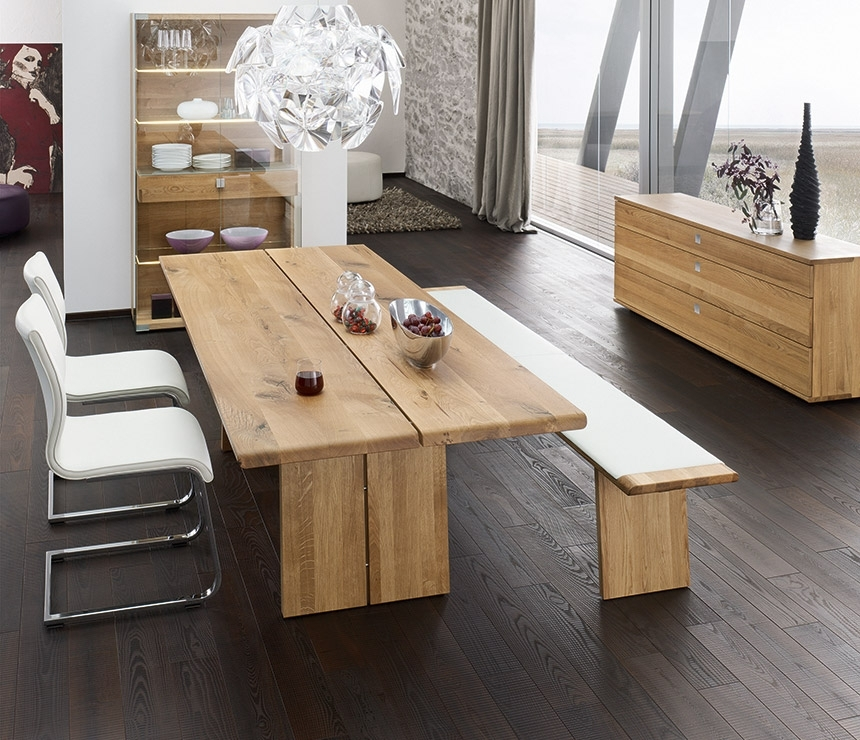 Luxury Natural Wood Dining Table – Nox – Wharfside Dining Furniture Within Solid Oak Dining Tables (Image 15 of 25)