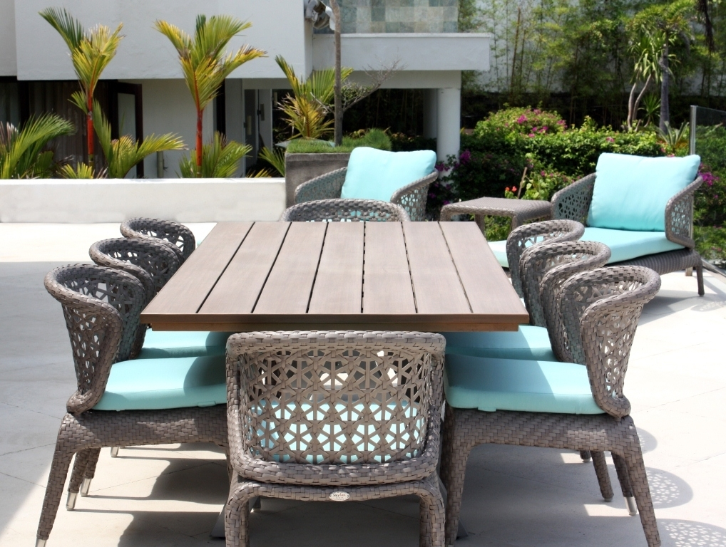 Luxury Rattan Garden Furniture – Modern & Contemporary Designs Inside Rattan Dining Tables (View 17 of 25)