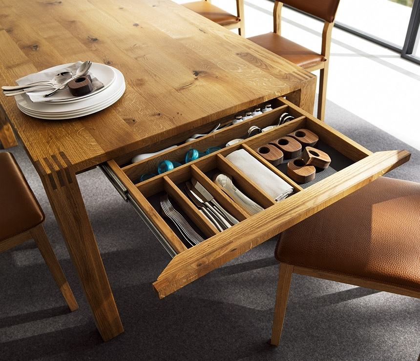 Luxury Solid Wood Table – Loft Team 7 – Wharfside With Extending Solid Oak Dining Tables (Image 17 of 25)