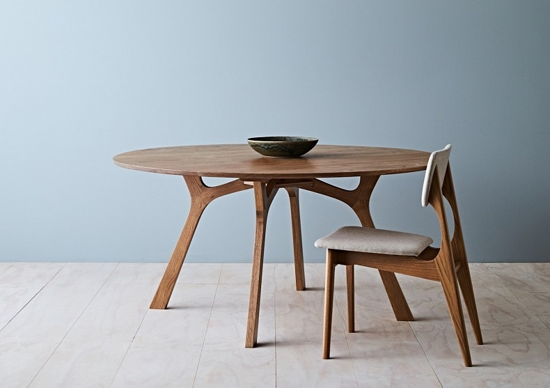 Lyssna Round Dining Table – Tide Design – Handmade Furniture Inside Round Dining Tables (Image 13 of 25)