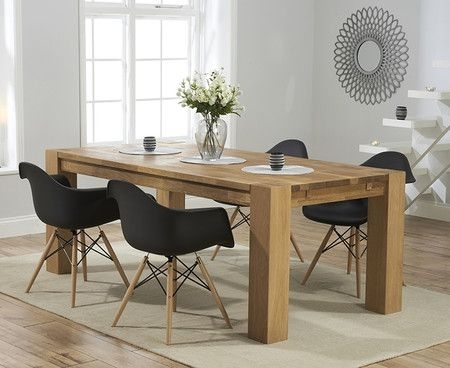 Madrid 200Cm Solid Oak Extending Dining Table With Charles Eames With Regard To Extending Solid Oak Dining Tables (View 24 of 25)