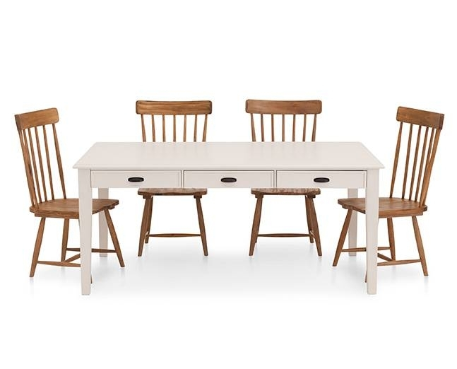 Magnolia Home Farmhouse Counter Height Table – Furniture Row Pertaining To Magnolia Home Taper Turned Jo's White Gathering Tables (View 6 of 25)