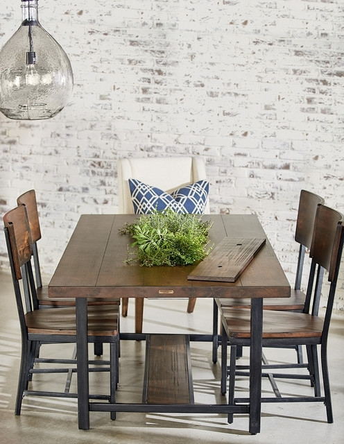 Magnolia Home Framework Dining Table With Planter – Industrial In Magnolia Home Sawbuck Dining Tables (View 5 of 25)