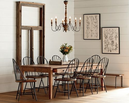 Featured Image of Magnolia Home Bench Keeping 96 Inch Dining Tables