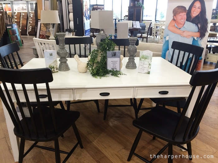 Magnolia Home Furniture – Real Life Opinions | The Harper House In Magnolia Home Breakfast Round Black Dining Tables (View 12 of 25)