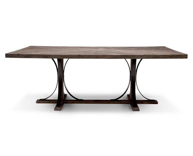 Magnolia Home Iron Trestle Dining Table – Furniture Row Regarding Magnolia Home Sawbuck Dining Tables (View 11 of 25)