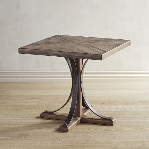 Featured Photo of Magnolia Home Shop Floor Dining Tables With Iron Trestle