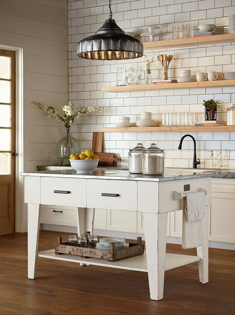Magnolia Home – Kitchen Island – Jo's White – Country – Kitchen Pertaining To Magnolia Home Bench Keeping 96 Inch Dining Tables (Image 10 of 25)