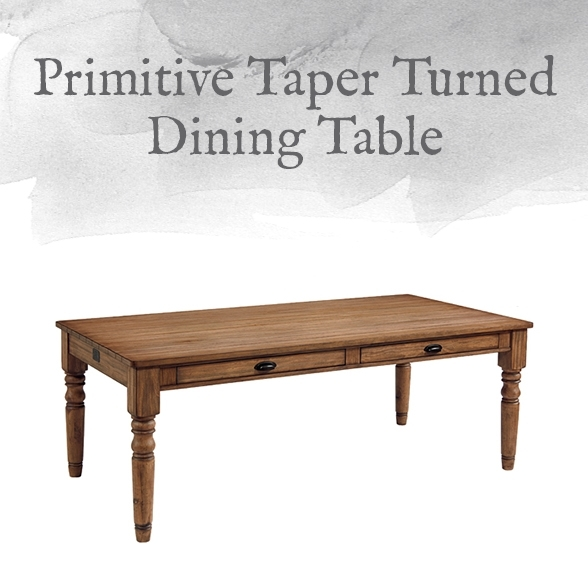 Magnolia Home Preview: Primitive Collection | Designgahs Inside Magnolia Home Taper Turned Bench Gathering Tables With Zinc Top (View 3 of 25)