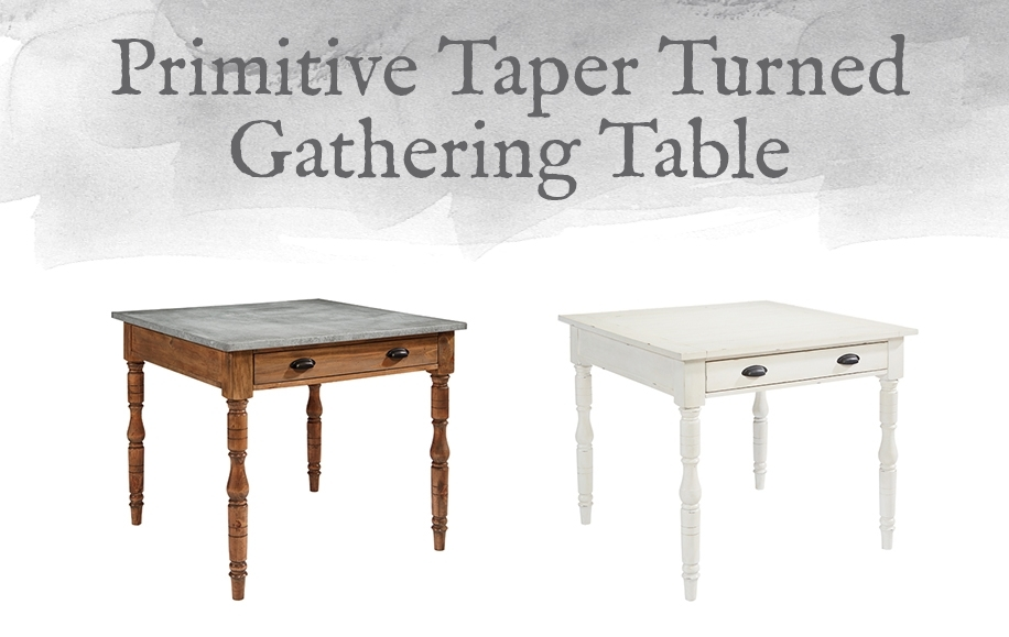 Magnolia Home Preview: Primitive Collection | Designgahs Within Magnolia Home Taper Turned Bench Gathering Tables With Zinc Top (View 11 of 25)
