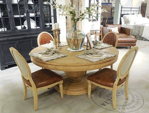 Magnolia Home Round Dining Table | Magnolia♡ | Pinterest | Joanna Within Magnolia Home Double Pedestal Dining Tables (View 9 of 25)