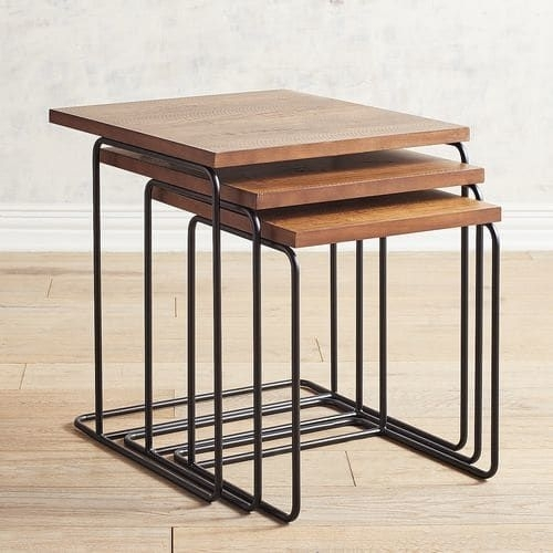 Magnolia Home Traverse Wood Nesting Tables | Furniture | Pinterest With Regard To Magnolia Home Array Dining Tables By Joanna Gaines (View 25 of 25)