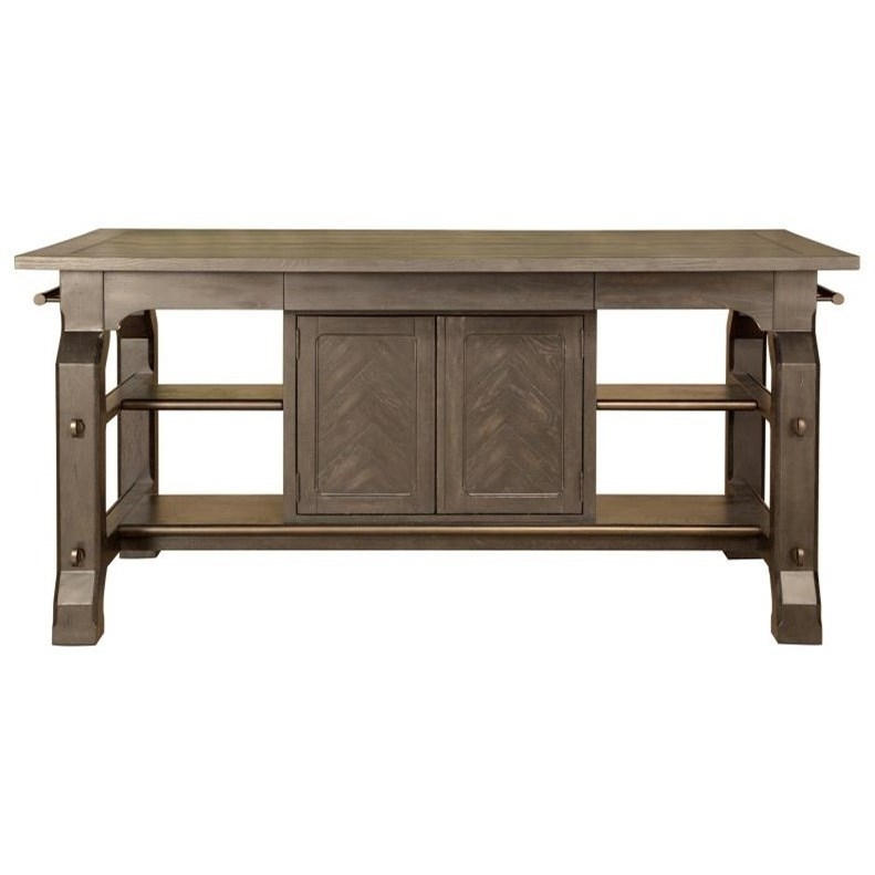 Magnussen Home Jefferson Market Rectangular Counter Table With Built Regarding Jefferson Extension Round Dining Tables (Image 19 of 25)