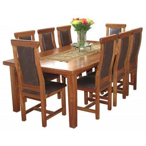 Mahalaxmi Art Brown 8 Seater Dining Table Set, Rs 35000 /set | Id Intended For 8 Seater Black Dining Tables (Image 21 of 25)