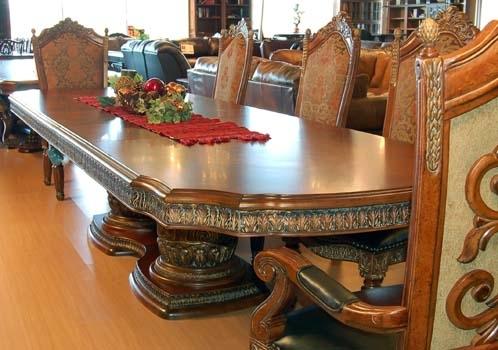 Mahogany And More Villa Valencia Collection – Ai 72002 9 Piece Villa In Valencia 72 Inch 6 Piece Dining Sets (View 15 of 25)