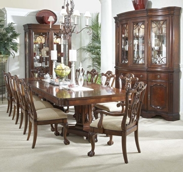 Mahogany And More Writing Tables – Heritage Mahogany 13 Piece Dining Set Inside Mahogany Dining Table Sets (View 18 of 25)