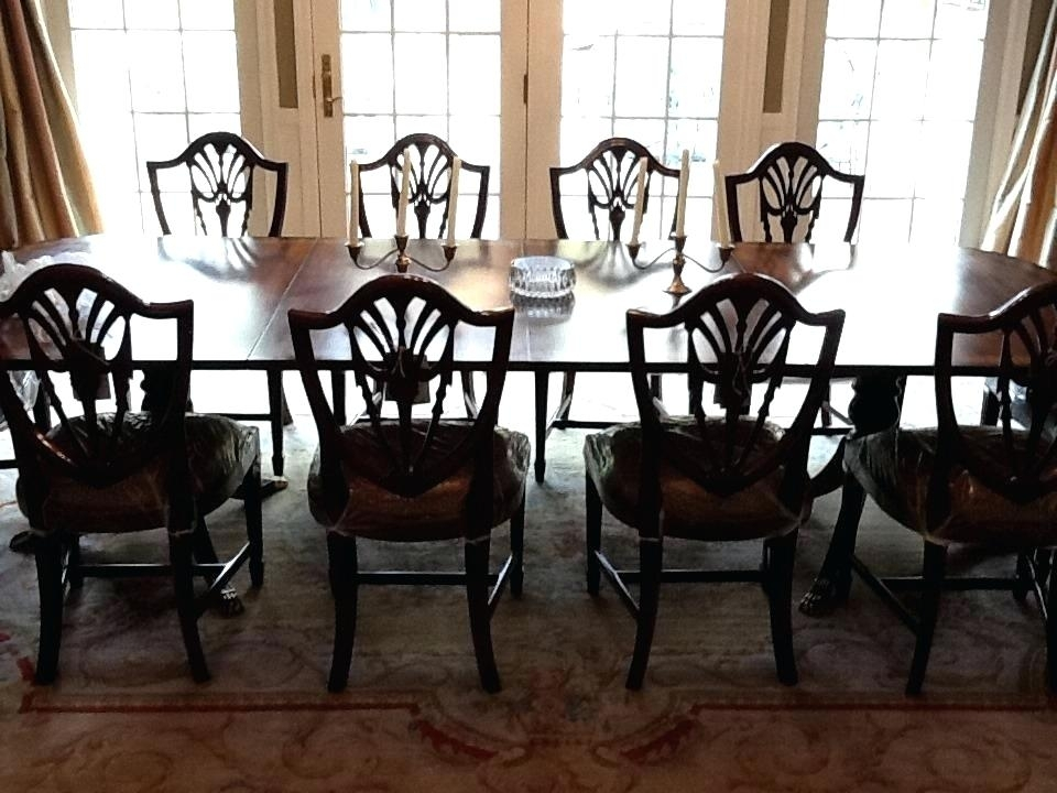 Mahogany Dining Room Set Mahogany Dining Room Sets Shield Back Pertaining To Mahogany Dining Tables Sets (View 8 of 25)