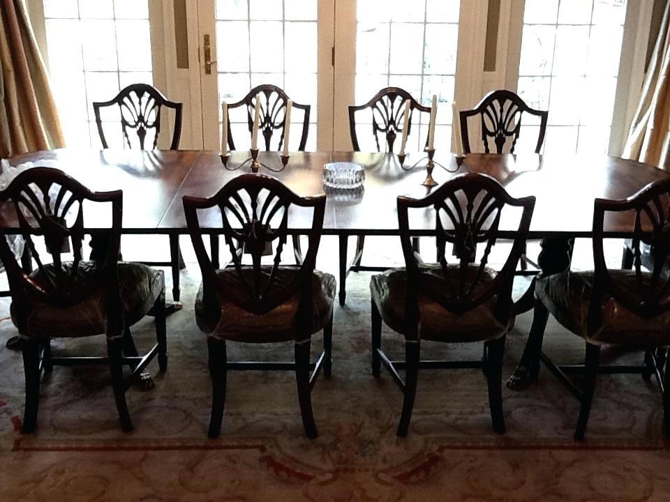 Mahogany Dining Room Set Mahogany Dining Room Sets Shield Back Pertaining To Mahogany Dining Tables Sets (Image 11 of 25)
