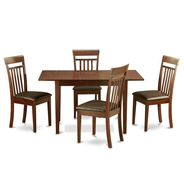 Mahogany Dining Room Table And 4 Dining Room Chairs Chairs 5 Piece Pertaining To Mahogany Dining Tables And 4 Chairs (View 8 of 25)
