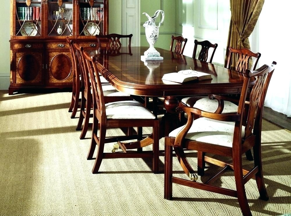 Mahogany Dining Room Table And 8 Chairs Sets Discontinued Antique Within Mahogany Dining Tables Sets (View 6 of 25)