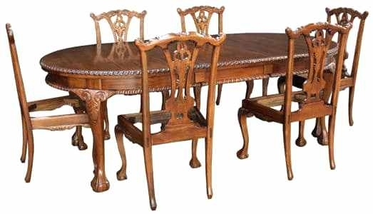 Mahogany Dining Room Table Ball And Claw Foot Chairs Furniture For In Mahogany Dining Tables Sets (Image 16 of 25)