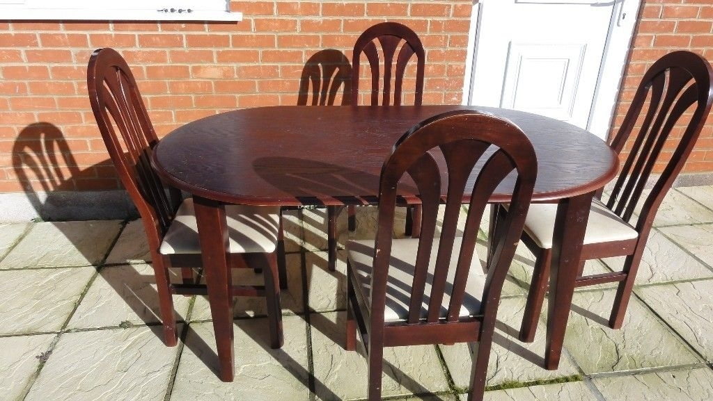 Mahogany Dining Table & 4 Chairs | In Earley, Berkshire | Gumtree Pertaining To Mahogany Dining Tables And 4 Chairs (View 21 of 25)
