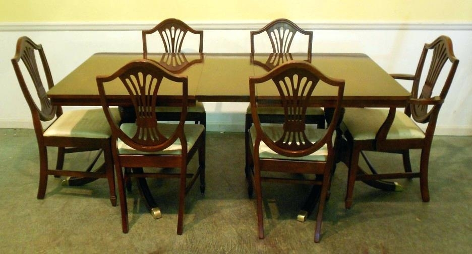 Mahogany Dining Table And Chairs Mahogany Dining Room Chairs Dining Pertaining To Mahogany Dining Table Sets (View 11 of 25)