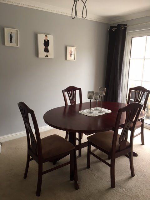 Mahogany Dining Table With 4 Chairs | In Erskine, Renfrewshire | Gumtree Pertaining To Mahogany Dining Tables And 4 Chairs (View 16 of 25)