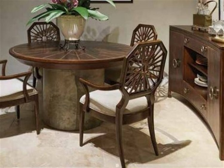 Mahogany Round Dining Table Stanley Furniture Havana Crossing With Havana Dining Tables (Image 18 of 25)