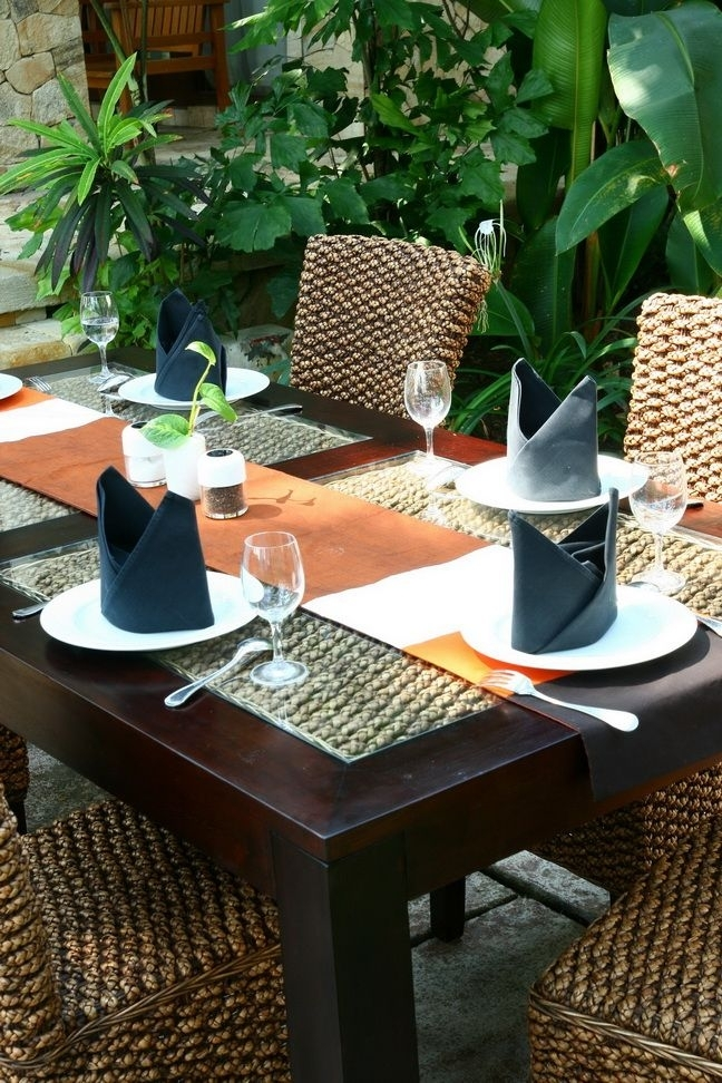 Mahogany & Water Hyacinth Dining Table From Bali Mystique Www Pertaining To Balinese Dining Tables (Image 20 of 25)