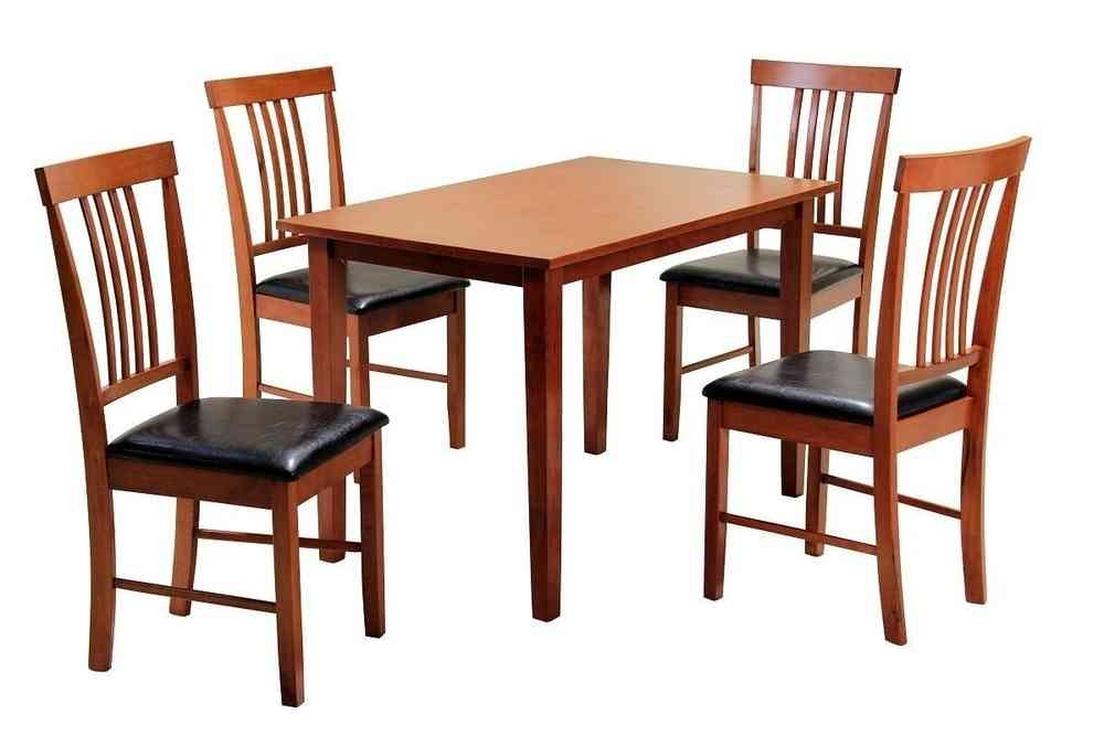 Mahogany Wooden Dining Table And 4 Chairs – Homegenies Throughout Mahogany Dining Tables And 4 Chairs (Image 17 of 25)