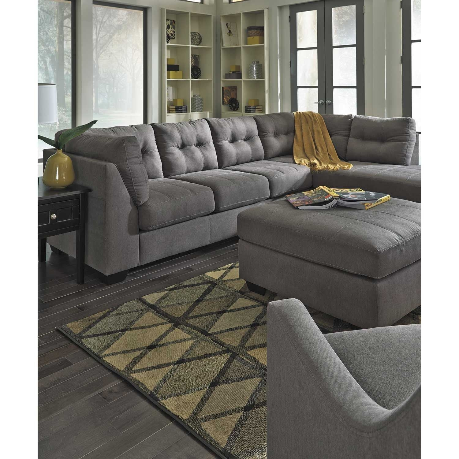 Maier Charcoal 2 Piece Sectional With Laf Chaise | 4520016/67 Inside Arrowmask 2 Piece Sectionals With Raf Chaise (Image 15 of 25)