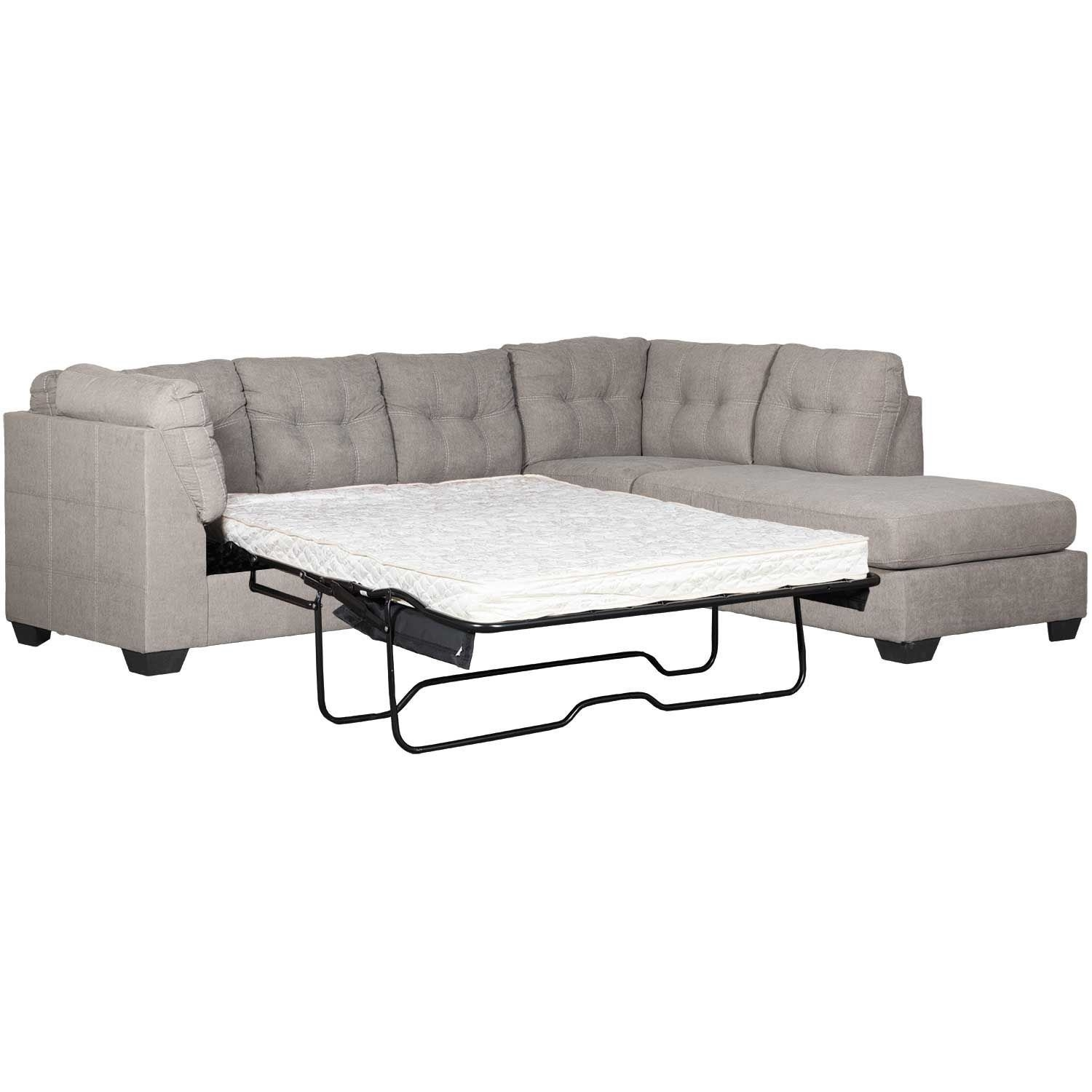 Maier Charcoal 2 Piece Sleeper Sectional With Raf Chaise | 4520017 In Meyer 3 Piece Sectionals With Laf Chaise (Image 14 of 25)